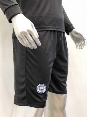 Quần áo bóng đá Tay dài Manchester City màu Đen mùa giải 19-20