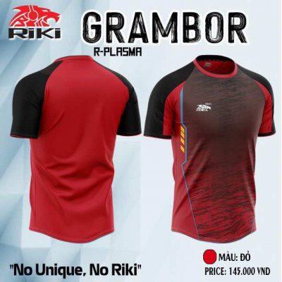 Áo bóng đá không logo cao cấp RIKI GRAMBOR màu Đỏ Đô