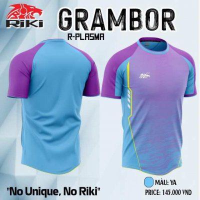 Áo bóng đá không logo cao cấp RIKI GRAMBOR màu Tím