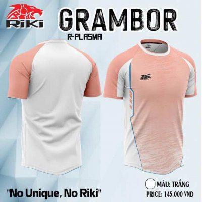 Áo bóng đá không logo cao cấp RIKI GRAMBOR màu Hồng