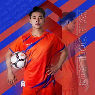 Áo bóng đá không logo cao cấp IWIN COOL ATTACK A04 màu Cam