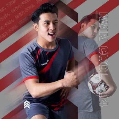Áo bóng đá không logo thiết kế cao cấp IWIN COOL ATTACK A04 màu Xanh Da