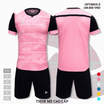 Quần áo bóng đá không logo thiết kế Just Play Optimus II hồng