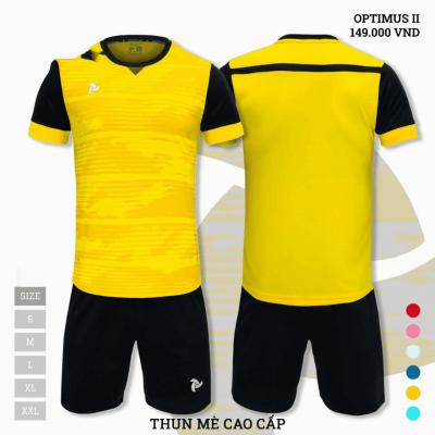 Quần áo bóng đá không logo thiết kế Just Play Optimus II màu vàng