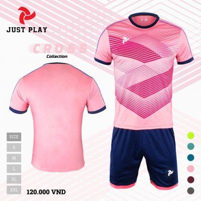 Áo bóng đá không logo Cross màu hồng