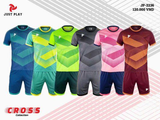 Áo bóng đá không logo Cross 6 màu cao cấp