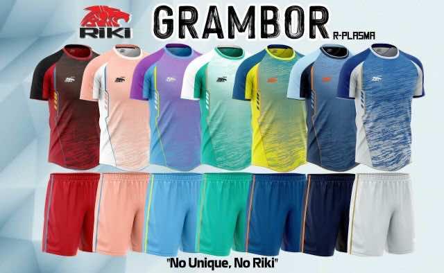 Áo bóng đá không logo RIKI GRAMBOR thun lạnh cao cấp 6 màu