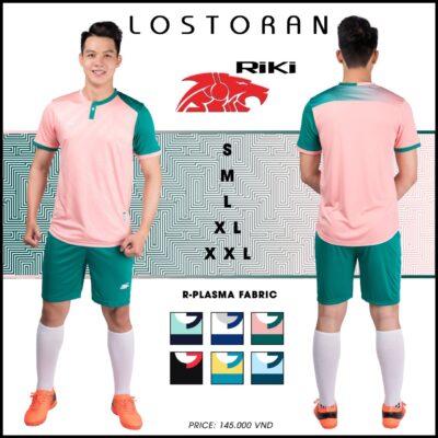 Áo bóng đá không logo Riki - LOSTORAN thun lạnh cao cấp màu hồng