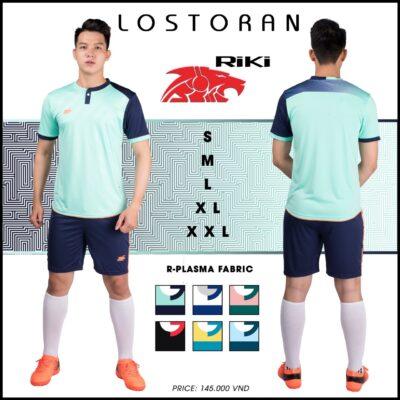 Áo bóng đá không logo Riki - LOSTORAN thun lạnh cao cấp màu xanh ngọc