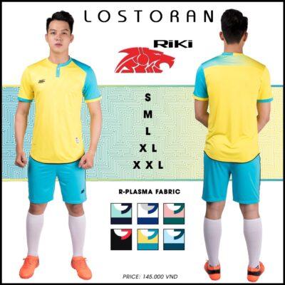 Áo bóng đá không logo Riki - LOSTORAN thun lạnh cao cấp màu vàng