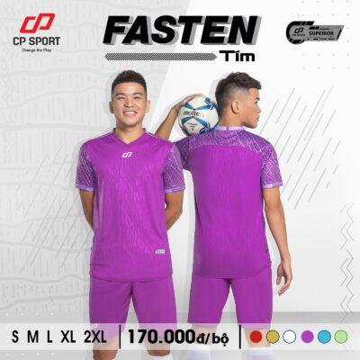 Áo bóng đá không logo CP FASTEN màu tím