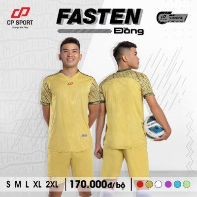 Áo bóng đá không logo CP FASTEN màu vàng