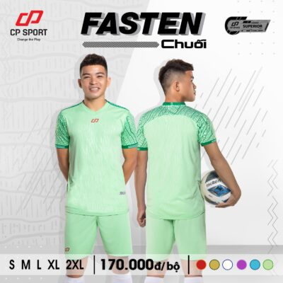 Áo bóng đá không logo CP FASTEN màu xanh ngọc