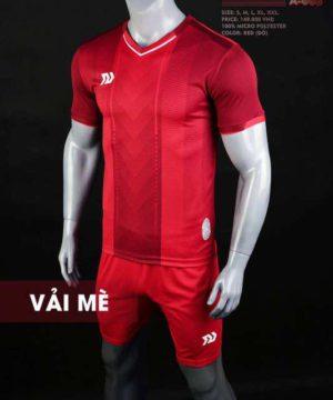 Áo bóng đá không logo cao cấp BULBAL LASER màu Đỏ