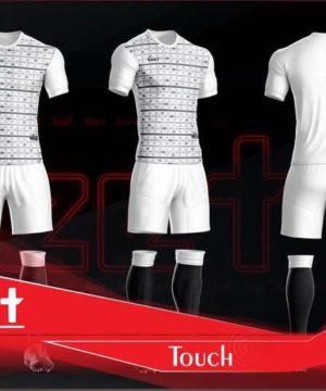 Áo bóng đá không logo cao cấp GEET TOUCH màu Trắng