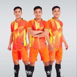 Áo bóng đá không logo cao cấp VICTORY UV EGAN màu Cam