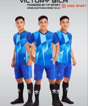 Áo bóng đá không logo cao cấp VICTORY UV EGAN màu Xanh Bích