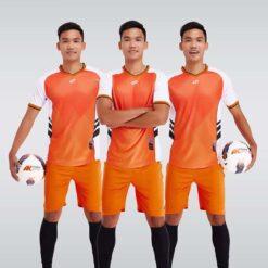 Áo bóng đá không logo thiết kế cao cấp HERO màu Cam
