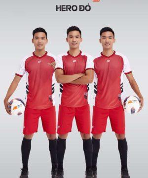 Áo bóng đá không logo thiết kế cao cấp HERO màu Đỏ