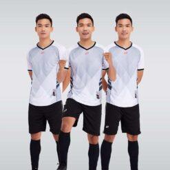 Áo bóng đá không logo thiết kế cao cấp HERO màu Trắng