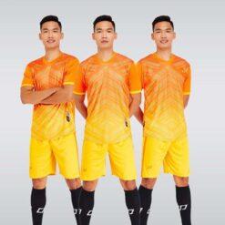 Áo bóng đá không logo thiết kế cao cấp SHINING màu Cam