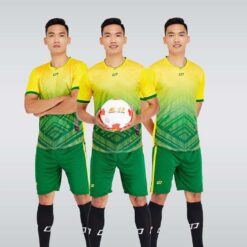 Áo bóng đá không logo thiết kế cao cấp SHINING màu Vàng