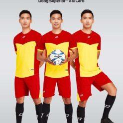 Áo bóng đá không logo thiết kế cao cấp VINCENT màu Vàng