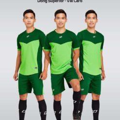 Áo bóng đá không logo thiết kế cao cấp VINCENT màu Xanh Chuối