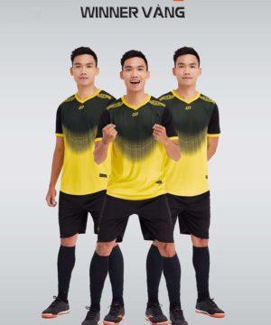 Áo bóng đá không logo thiết kế cao cấp WINNER màu Vàng