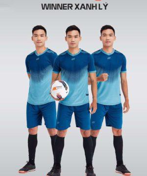 Áo bóng đá không logo thiết kế cao cấp WINNER màu Xanh Lý