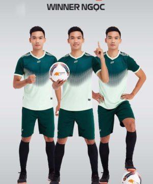 Áo bóng đá không logo thiết kế cao cấp WINNER màu Xanh Ngọc