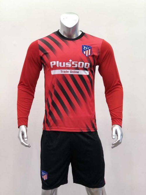 Quần áo bóng đá Atletico Madrid màu Sọc Đỏ Trắng mùa giải 19-20