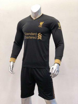 Quần áo bóng đá Tay dài Liverpool màu Đen mùa giải 19-20