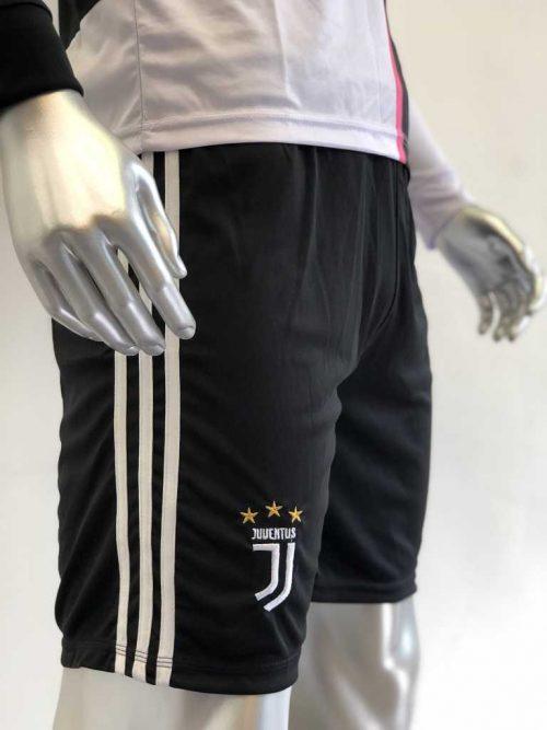 Quần áo bóng đá Tay dài Juventus màu Xanh Bích mùa giải 19-20