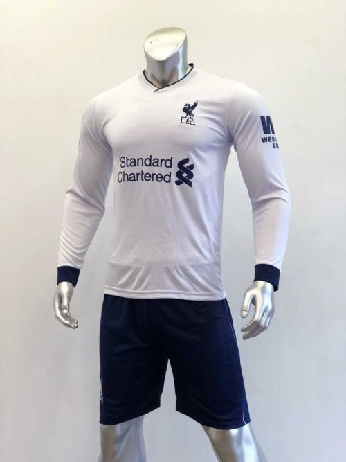 Quần áo bóng đá Tay dài Liverpool màu Trắng mùa giải 19-20