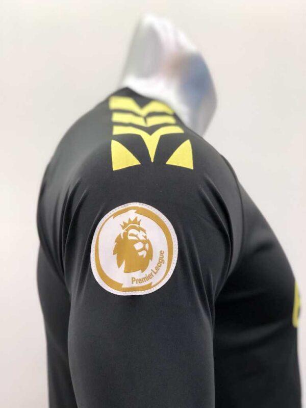 Quần áo bóng đá Tay dài Manchester City màu Vàng Cam mùa giải 19-20