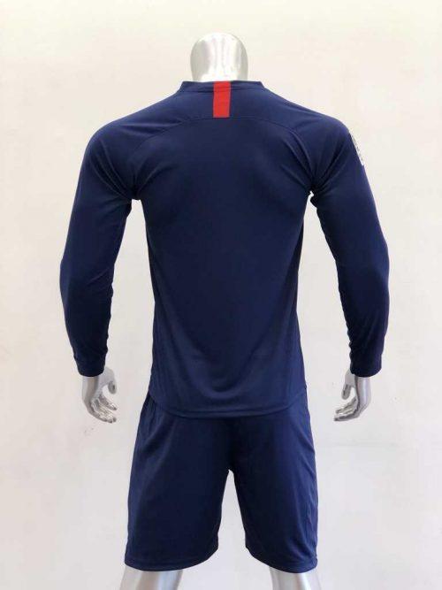 Quần áo bóng đá Tay dài PSG màu Xanh Đen mùa giải 19-20