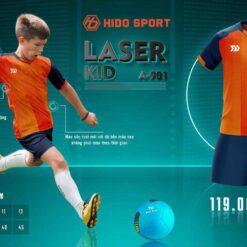 Quần áo bóng đá Trẻ Em không logo BU LASER KID màu Cam mới