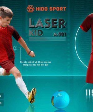 Quần áo bóng đá Trẻ Em không logo BU LASER KID màu Đỏ mới