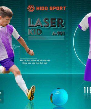 Quần áo bóng đá Trẻ Em không logo BU LASER KID màu Tím mới