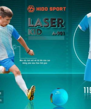 Quần áo bóng đá Trẻ Em không logo BU LASER KID màu Xanh Da mới