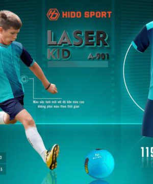 Quần áo bóng đá Trẻ Em không logo BU LASER KID màu Xanh Ngọc mới