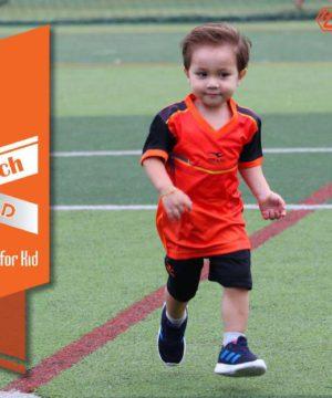 Quần áo bóng đá Trẻ Em không logo PUNCH màu Cam Mới