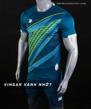Áo bóng đá không logo cao cấp BULBAL VINGAR màu Xanh Nhớt