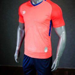 Áo bóng đá không logo cao cấp BULBAL VISION màu Cam Hồng
