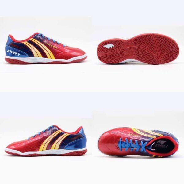 Giày đá banh đế bằng PAN FORCE Sân cỏ nhân tạo Màu Đỏ mới