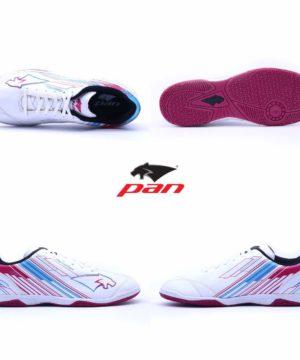 Giày đá banh đế bằng PAN REBELLER Sân cỏ nhân tạo Màu Trắng mới
