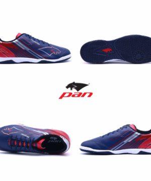 Giày đá banh đế bằng PAN REBELLER Sân cỏ nhân tạo Màu Xanh Đậm mới