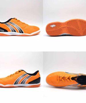 Giày đá banh đế bằng PAN ZENITH Sân cỏ nhân tạo màu Cam mới