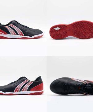 Giày đá banh đế bằng PAN ZENITH Sân cỏ nhân tạo màu Đen Đỏ mới